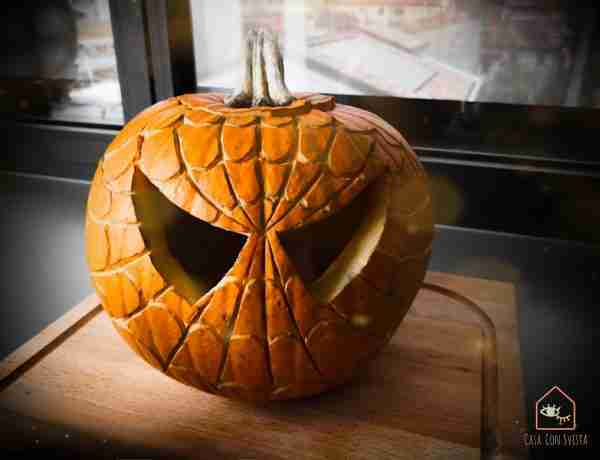 Halloween Jack O Lantern Spiderman style