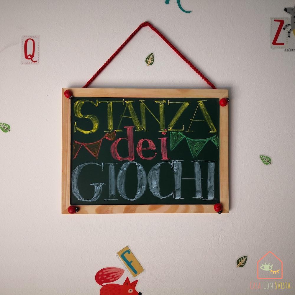 Chalkboard playroom diy